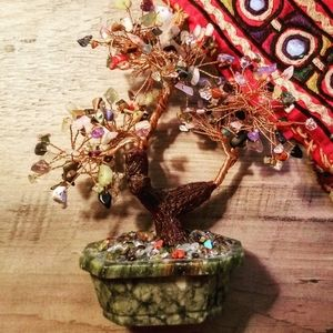 Other - 《Home Decor》Beaded Wired Bonsai Tree
